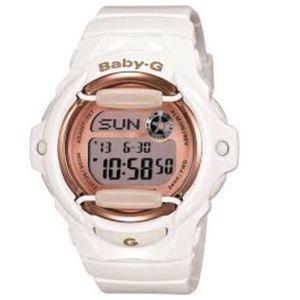CASIO BABY-G BG169G-7B White/rose gold watch